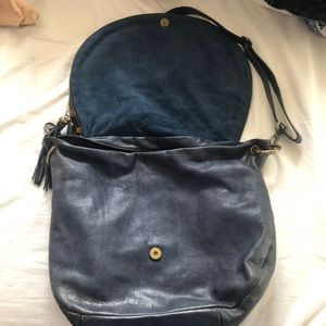 BLUE LEATHER PURSE from a boutique in Paris!